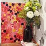 PINK Bold Abstract Acrylic Painting..