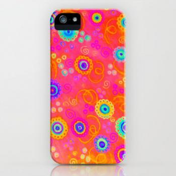 SWIZZLE STICK iPhone Case, iPhone 4 4S or 5 5S 5C Case, Fine Art iPhone Cover, High Quality, Colorful Original Abstract Painting Design